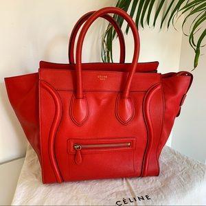 Celine mini luggage tote bag